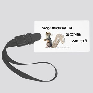 Wild Squirrel Large Luggage Tag