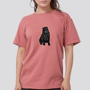 Chinese Shar Pei (blk) Womens Comfort Colors Shirt