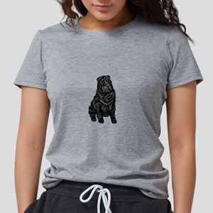 Chinese Shar Pei (blk) Womens Tri-blend T-Shirt