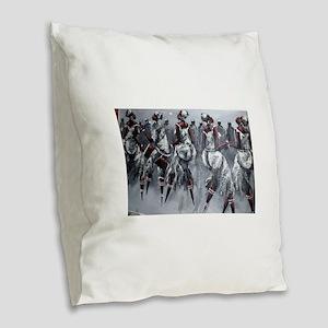 Women Power Burlap Throw Pillow
