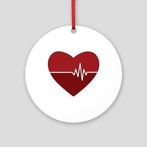 Heartbeat Round Ornament