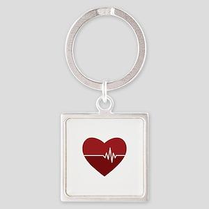 Heartbeat Keychains