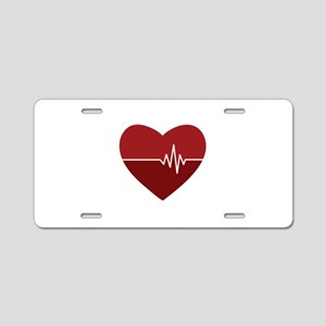 Heartbeat Aluminum License Plate
