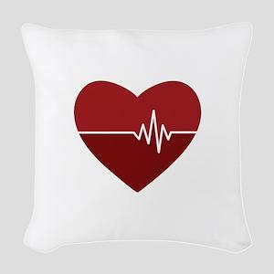 Heartbeat Woven Throw Pillow