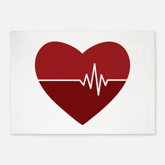 Heartbeat 5'x7'Area Rug