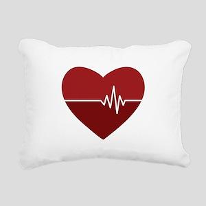 Heartbeat Rectangular Canvas Pillow