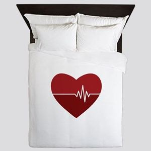 Heartbeat Queen Duvet