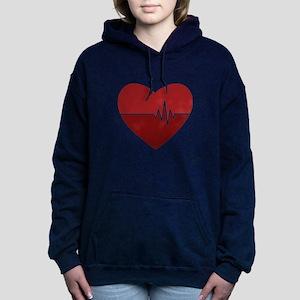 Heartbeat Women's Hooded Sweatshirt