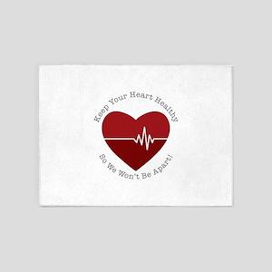 Keep Heart Healthy 5'x7'Area Rug