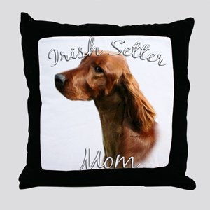 Irish Setter Mom2 Throw Pillow