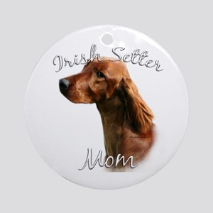 Irish Setter Mom2 Ornament (Round)
