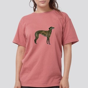 Brindle Greyhound Womens Comfort Colors Shirt