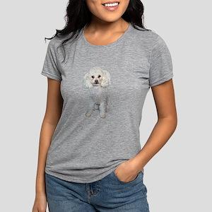 Poodle - Min White Womens Tri-blend T-Shirt