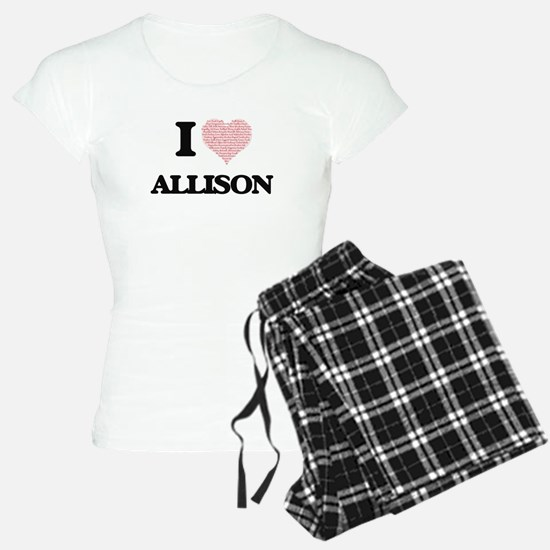 I Love Allison Pajamas