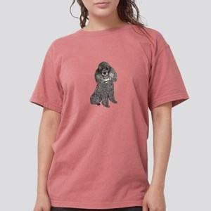 Poodle (sivler) Womens Comfort Colors Shirt