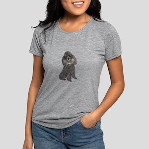 Poodle (sivler) Womens Tri-blend T-Shirt
