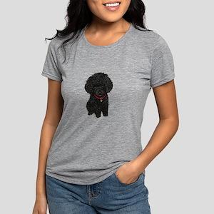 Black Poodle Puppy Womens Tri-blend T-Shirt