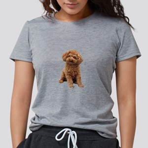 Poodle (toy-Min-Apric.) Womens Tri-blend T-Shirt