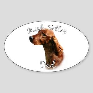 Irish Setter Dad2 Oval Sticker