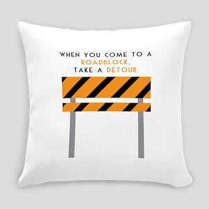 Road Block Everyday Pillow