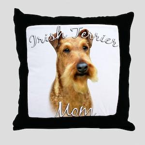 Irish Terrier Mom2 Throw Pillow