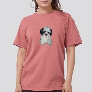 Shih Tzu Puppy (bw) Womens Comfort Colors Shirt
