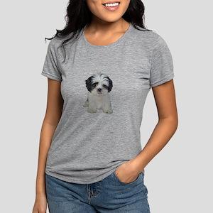 Shih Tzu Puppy (bw) Womens Tri-blend T-Shirt