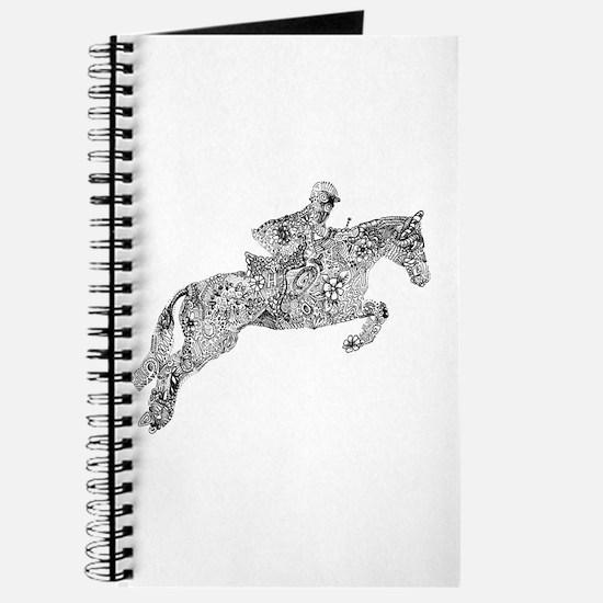 Horse Jumping Doodles Journal