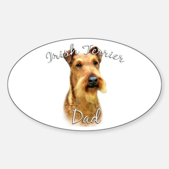 Irish Terrier Dad2 Oval Decal