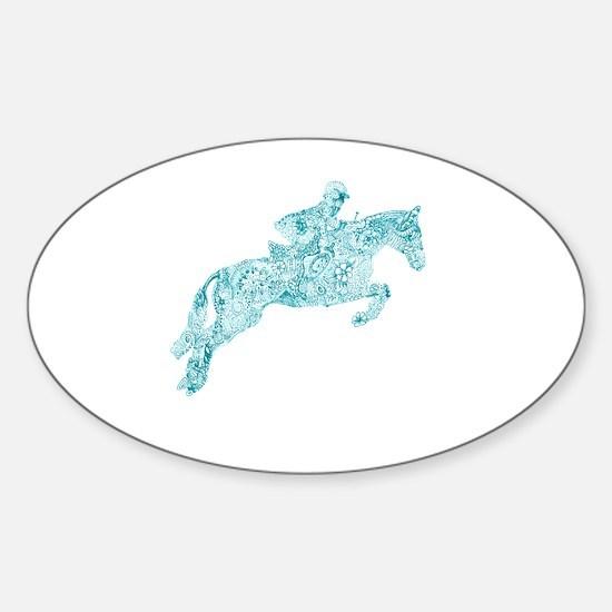 Cute Equine Sticker (Oval)