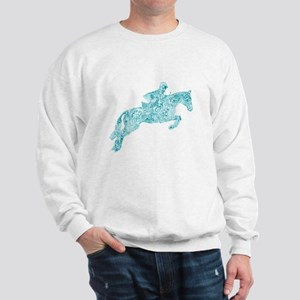 Doodle Horse Show Jumping Illustration Sweatshirt