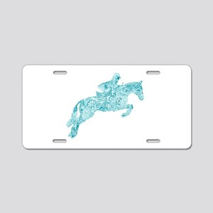 Doodle Horse Show Jumping I Aluminum License Plate
