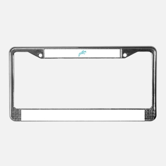 Doodle Horse Show Jumping Illu License Plate Frame