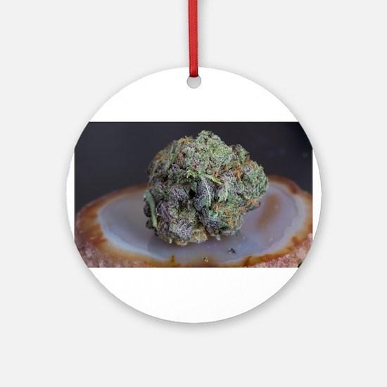 Grape Ape Medicinal Marijuana Round Ornament