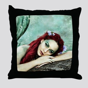 Beautiful Mermaid Throw Pillow