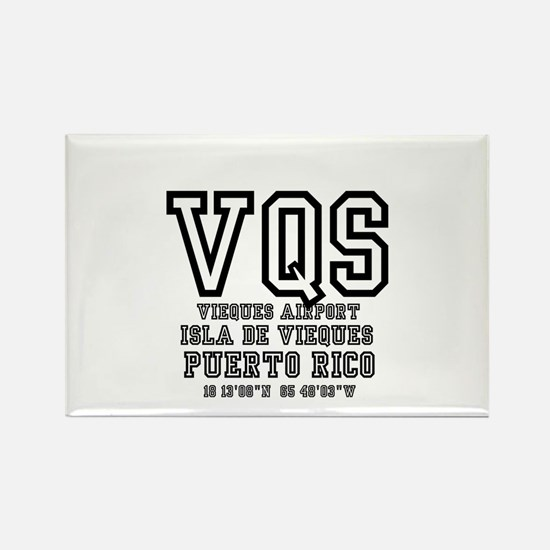 AIRPORT CODES - VQS, ISLA DE VIEQUES, PR Magnets