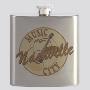 Nashville Music City-LT-8 Flask
