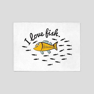 I Love Fish 5'x7'Area Rug