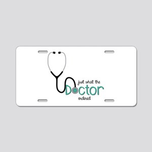 Doctor Ordered Aluminum License Plate