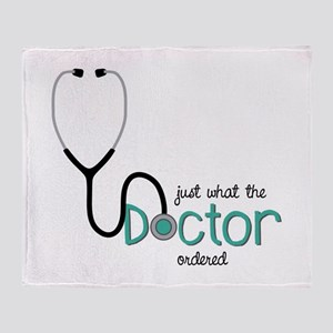 Doctor Ordered Throw Blanket