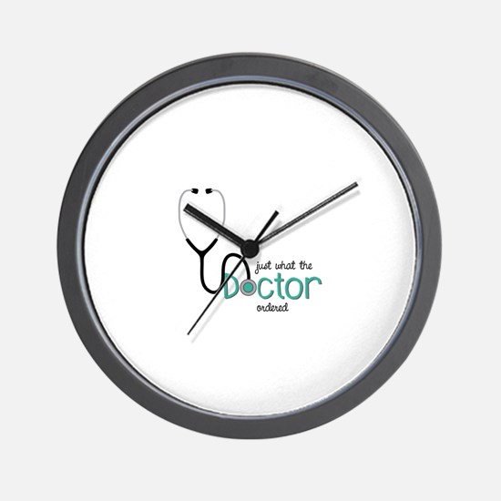 Doctor Ordered Wall Clock