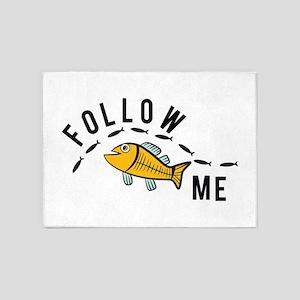 Follow Me Fish 5'x7'Area Rug