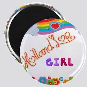 Holland Lop Girl Magnets