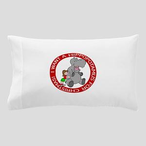 Hippopotamus for Christmas Pillow Case