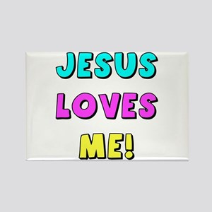 Jesus Loves Me! Rectangle Magnet