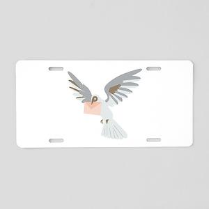 Carrier Pigeon Aluminum License Plate