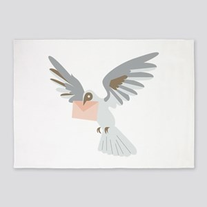 Carrier Pigeon 5'x7'Area Rug