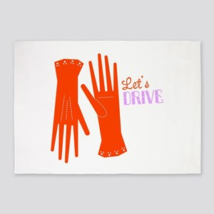 Lets Drive Gloves 5'x7'Area Rug