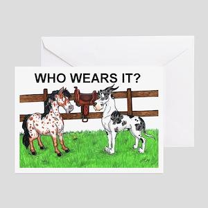 Who wears it Great Dane & Pony Cards (10p)