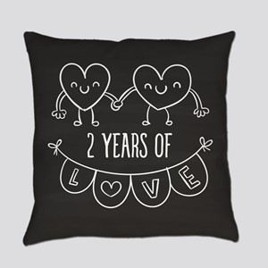 2nd Anniversary Gift Chalkboard He Everyday Pillow